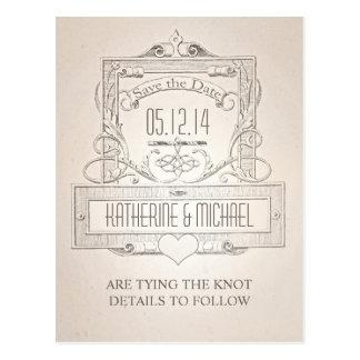 reserva tipográfica del vintage elegante la postal