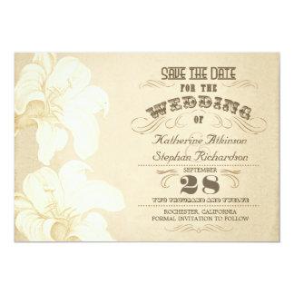 reserva tipográfica envejecida vintage la fecha invitación 12,7 x 17,8 cm