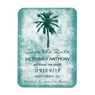 Reserva tropical del boda de playa de la palmera imán flexible