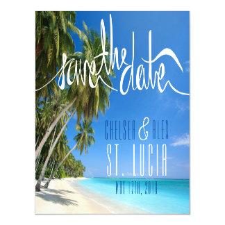 Reserva tropical del boda de playa el imán de la