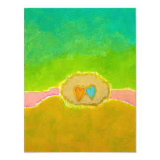 Reserva única del amor del verano del arte del invitación 10,8 x 13,9 cm