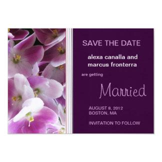 Reserva violeta púrpura del boda la tarjeta de invitación 11,4 x 15,8 cm