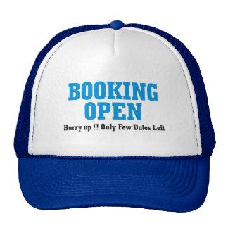 reservación abierta gorras de camionero