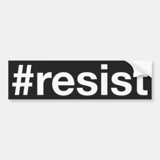 #resist pegatina para coche