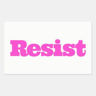 RESISTA al pegatina - rosa fuerte