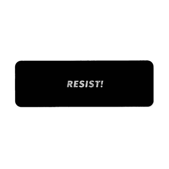 ¡Resista! (Apenado) Etiqueta De Remitente