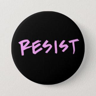 Resista el botón grande con las letras rosadas