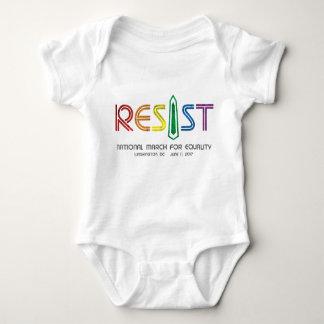 Resista el mono del bebé body para bebé
