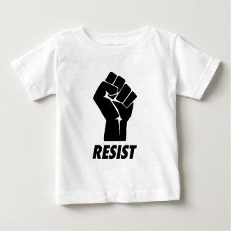 resista el puño camiseta de bebé