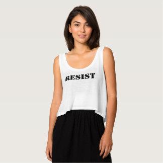 resista el rojo anti de la marcha de las mujeres camiseta con tirantes