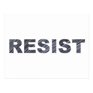 Resista la letra del Anti-Triunfo de la postal el