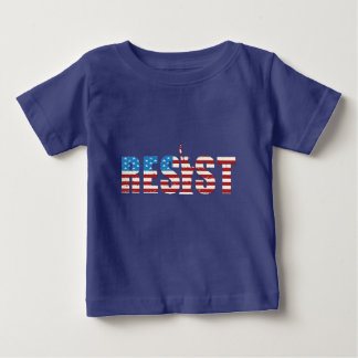 Resista la resistencia anti del triunfo persisten camiseta de bebé