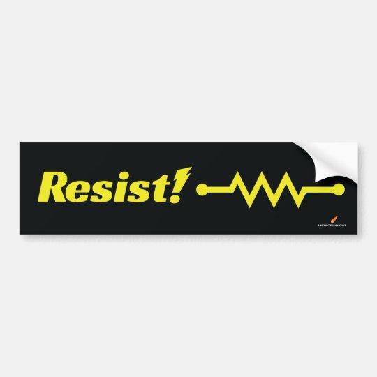 ¡Resista! pegatina para el parachoques (amarillo) Pegatina Para Coche