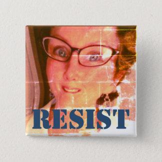 """RESISTA Pin (2"""" el cuadrado) Chapa Cuadrada"""