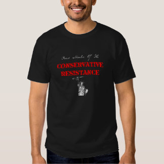 Resistencia conservadora camisetas