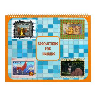 Resoluciones para el calendario de los seres