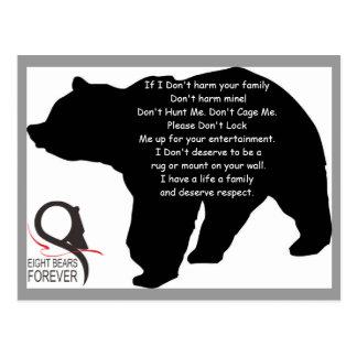 Respecto por osos tarjetas postales