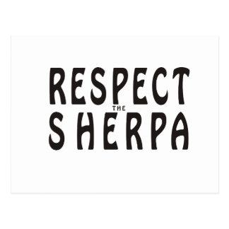 """""""Respete alpinismo del Sherpa"""" Postal"""
