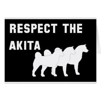 respete el Akita Tarjeta De Felicitación