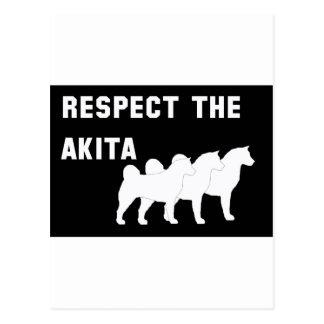 respete el Akita Postal