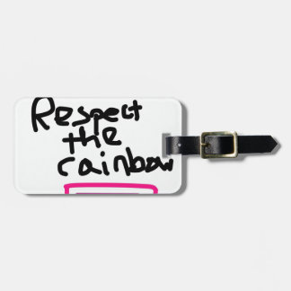 Respete el arco iris - igualdad de la boda etiquetas para maletas