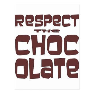 Respete el chocolate postal