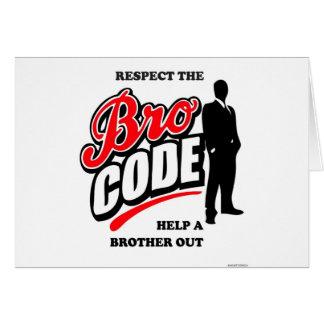 Respete el código de Bro Tarjeta De Felicitación