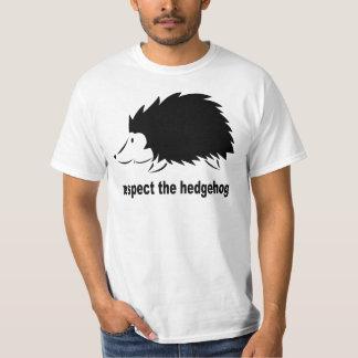 Respete el erizo camiseta