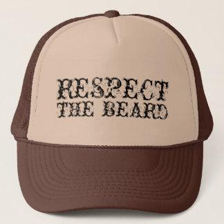 Respete el gorra del camionero de la barba para