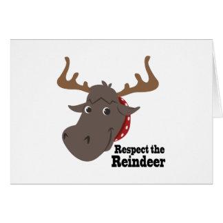 Respete el reno tarjeta de felicitación