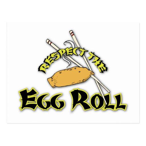 Respete el rollo de huevo tarjetas postales