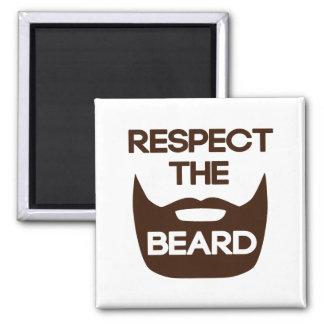 Respete la barba imán