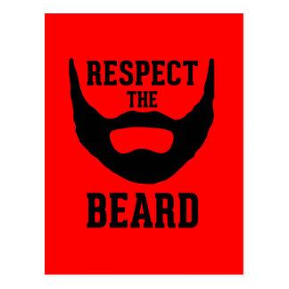 Respete la barba postal