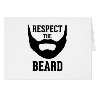Respete la barba tarjeta de felicitación