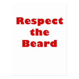 Respete la barba postales
