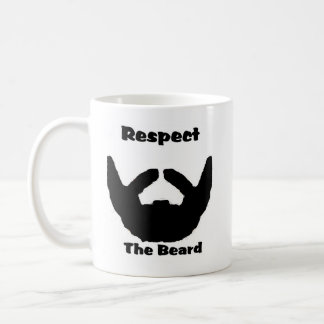 respete la barba taza básica blanca