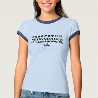 Respete la camisa de los diamantes artificiales