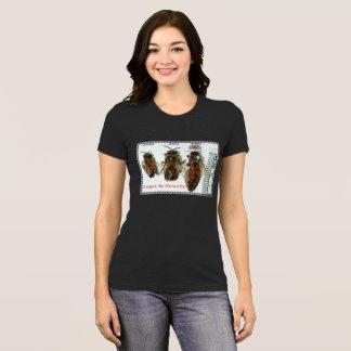 Respete la camiseta de las señoras de la abeja de