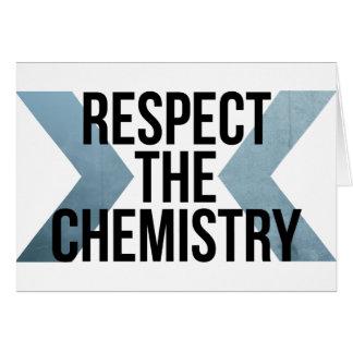 Respete la química tarjeta de felicitación