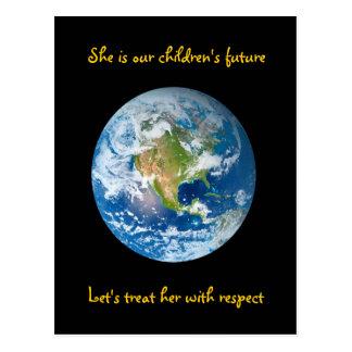Respete la tierra - Día de la Tierra Postal