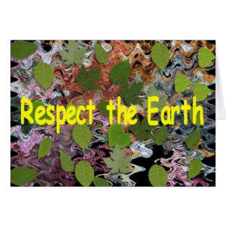 Respete la tierra felicitación