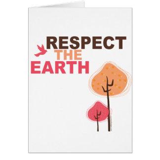 Respete la tierra tarjetas