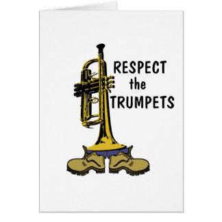 Respete las trompetas tarjeta