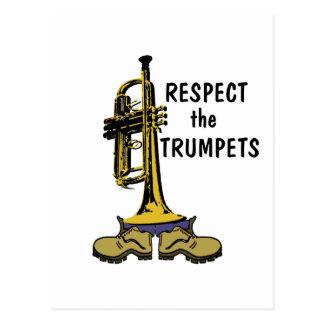 Respete las trompetas tarjetas postales