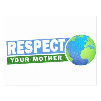 Respete su día de madre tierra - tarjeta postal