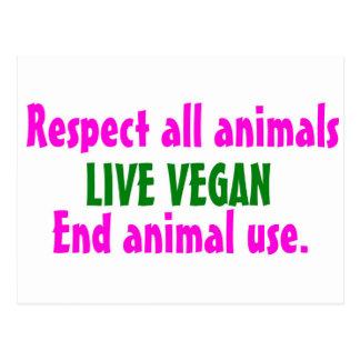 Respete todo el animals.jpg postal
