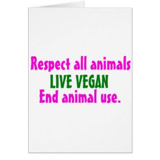 Respete todo el animals.jpg tarjeta de felicitación