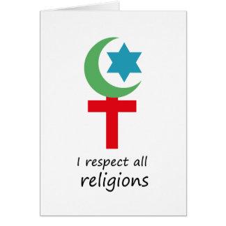 respeto todo el religions.png tarjeta de felicitación