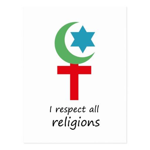 respeto todo el religions.png tarjetas postales