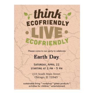 Respetuoso del medio ambiente tarjetas informativas